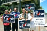 Team Lavoie Sign waving