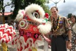 Frank with a Chinatown dragon