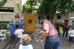 Senator Galuteria tries, and fails, to dunk Frank at Chinatown event